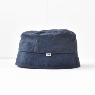【 ENDS and MEANS】 2021SS COTTON BUCKET HAT -Navy-