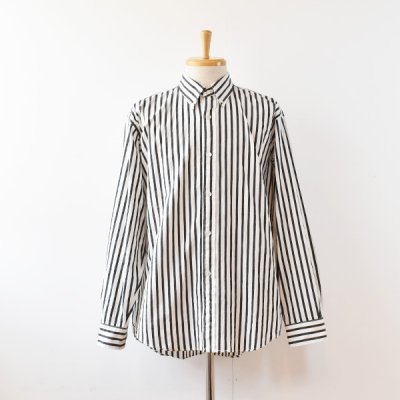 【ENDS and MEANS】 2021AW B.D Shirts  -Black Stripe-