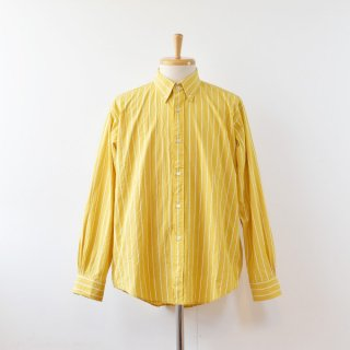 【ENDS and MEANS】 2021AW B.D Shirts  -Yellow Stripe-