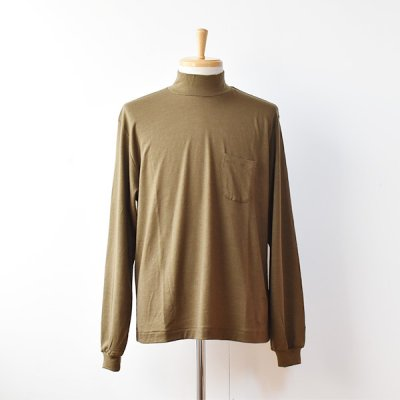 【ENDS and MEANS】 2021AW Pocket L/S Mock Neck TEE  -Brown Beige-