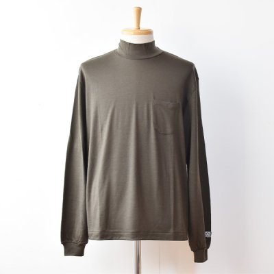 【ENDS and MEANS】 2021AW Pocket L/S Mock Neck TEE  -Khaki Olive-