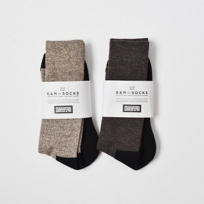 【ENDS and MEANS】 2021AW E&M Socks  -2 Colors-