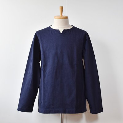 <img class='new_mark_img1' src='https://img.shop-pro.jp/img/new/icons14.gif' style='border:none;display:inline;margin:0px;padding:0px;width:auto;' />【Jackman】DOTSUME  LS Skipper Shirts  -Navy-