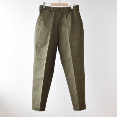 【ENDS and MEANS】 WORK CHINO  2021AW -Olive-