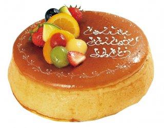 【店頭受取専用】フルーツ&メッセージ入りチーズケーキ