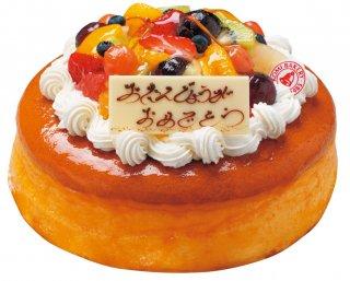 【店頭受取専用】フルーツ多めチーズケーキデコ