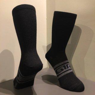 【GIRO/ジロ】SEASONAL MERINO WOOL SOCKS Black / Charcoal