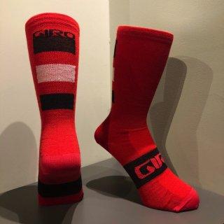【GIRO/ジロ】SEASONAL MERINO WOOL SOCKS Dark Red / Black / Grey