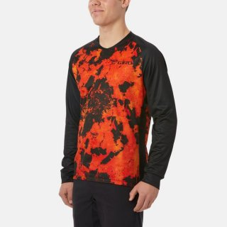 【GIRO/ジロ】MEN'S ROUST LS JERSEY Deep Orange Lava