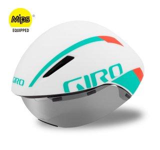 【GIRO/ジロ】AEROHEAD MIPS Matte White / Turquoise / Vermillion