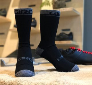 <img class='new_mark_img1' src='https://img.shop-pro.jp/img/new/icons14.gif' style='border:none;display:inline;margin:0px;padding:0px;width:auto;' />【GIRO/ジロ】WINTER MERINO WOOL SOCKS Black / Dark Shadow