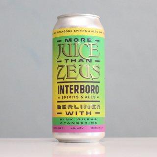 インターボロ×クリーチャーズコンフォーツ  モアジュースザンゼウス(Interboro×Creature Comforts Brewing More Juice Than Zeus)