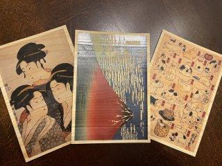 木のポストカード3枚セット