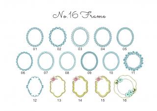 【刺繍データダウンロード】1-10 Frame