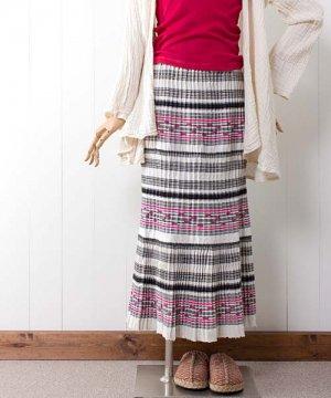 モン族手織りコットンヘンプ・ロングスカート(4)