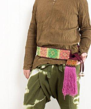 モン族古布の結ぶベルト