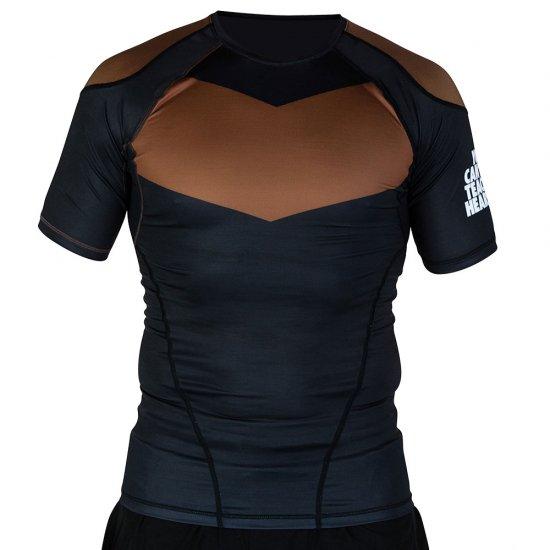Short Sleeve Supreme Ranked Rash Guard II〈Brown〉