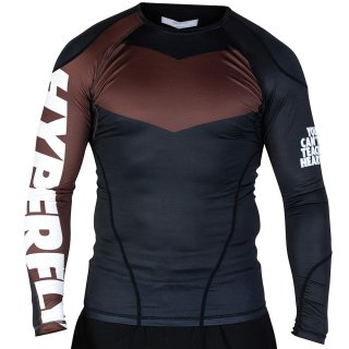 Long Sleeve Supreme Ranked Rash Guard II〈Brown〉