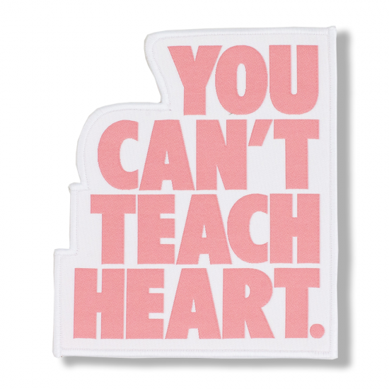 White You Can't Teach Heart. Patch 〈Rose Quartz YCTH〉