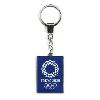 東京2020オリンピックエンブレムダイキャストKH角シルバー(ネイビー)