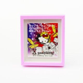 《web限定》yoshikitty:名言額縁型バッジ・2018・ドラム