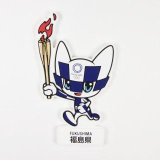 【セール価格】東京2020オリンピック聖火リレーマスコットラバーマグネット:福島県