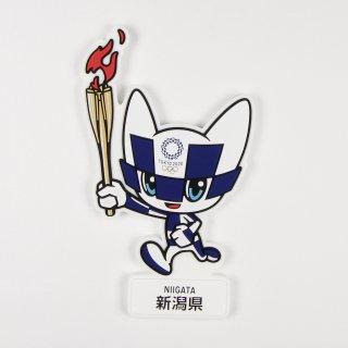 【セール価格】東京2020オリンピック聖火リレーマスコットラバーマグネット:新潟県