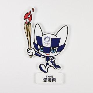 【セール価格】東京2020オリンピック聖火リレーマスコットラバーマグネット:愛媛県