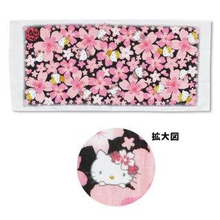 桜ハローキティ和タオル 満開BK