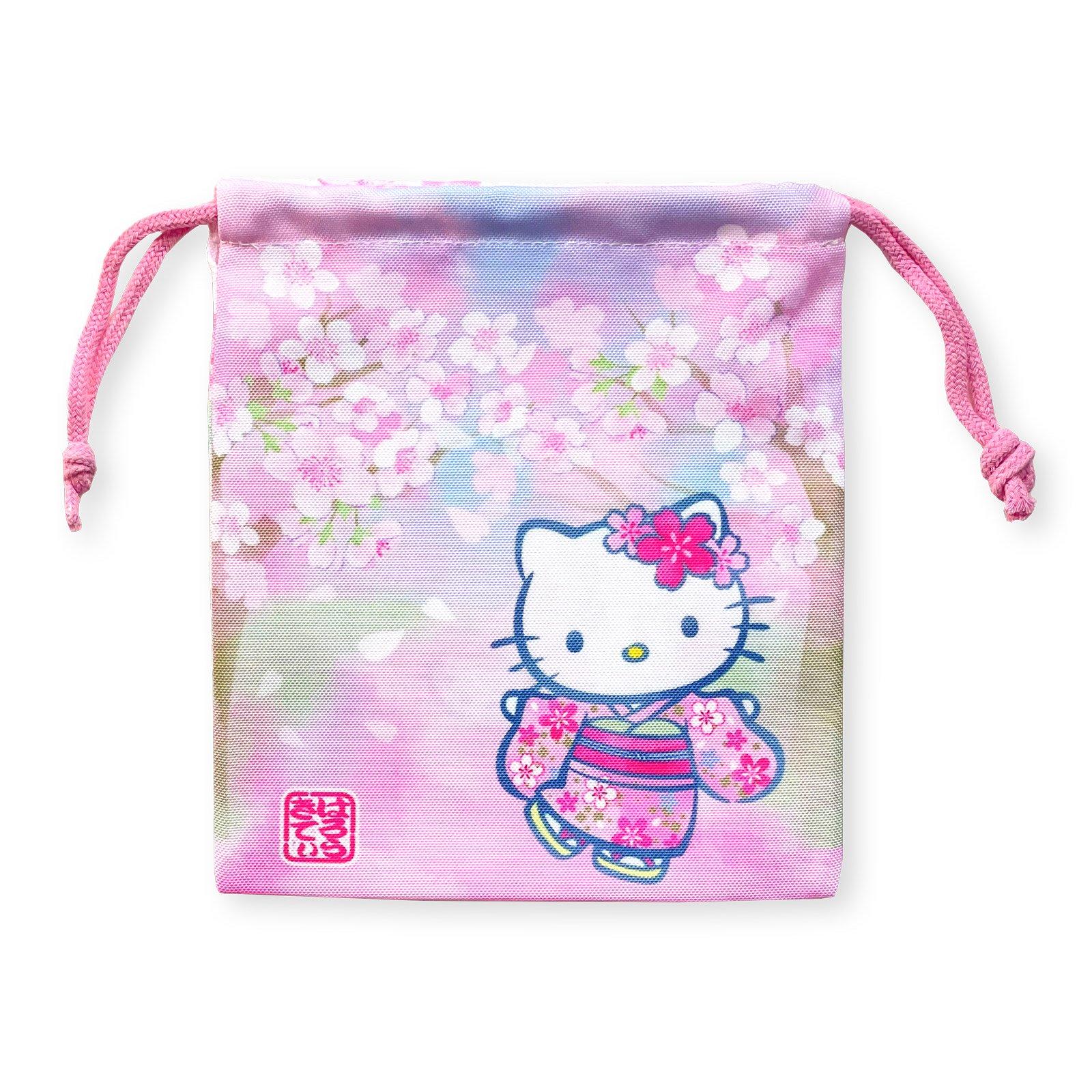 ハローキティ和桜巾着・桜の木