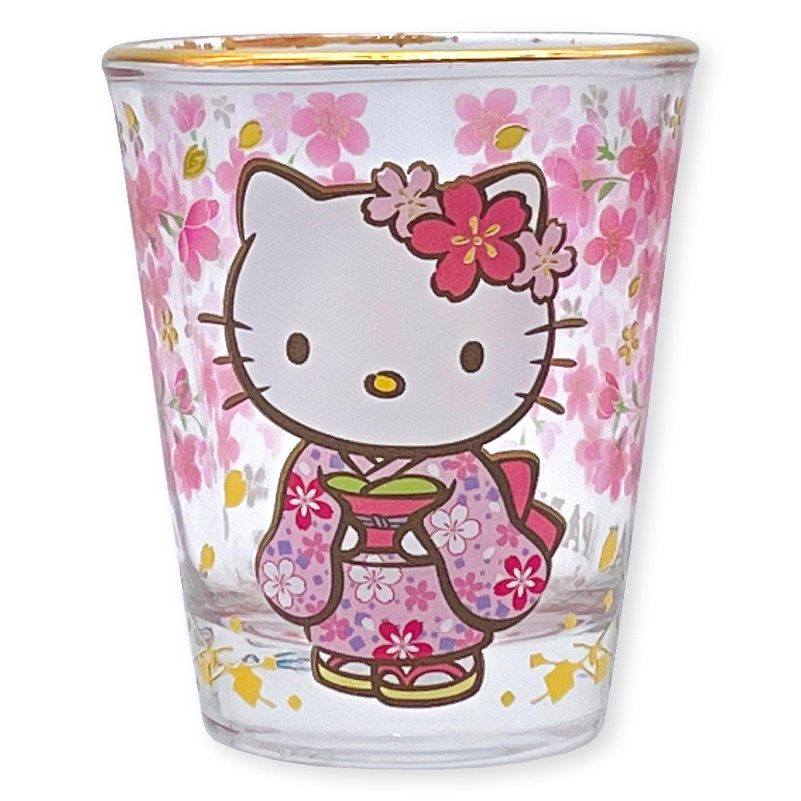 ハローキティショットグラス・和桜