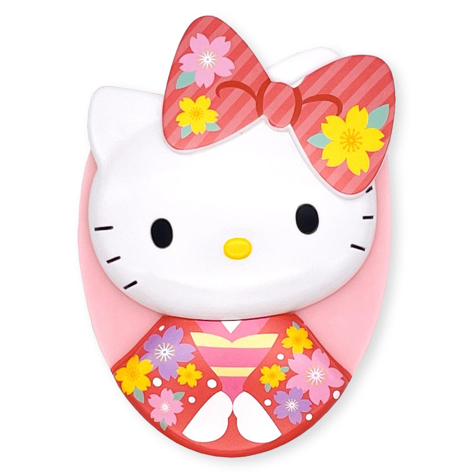 ハローキティ和桜ヘアブラシ・ピンク