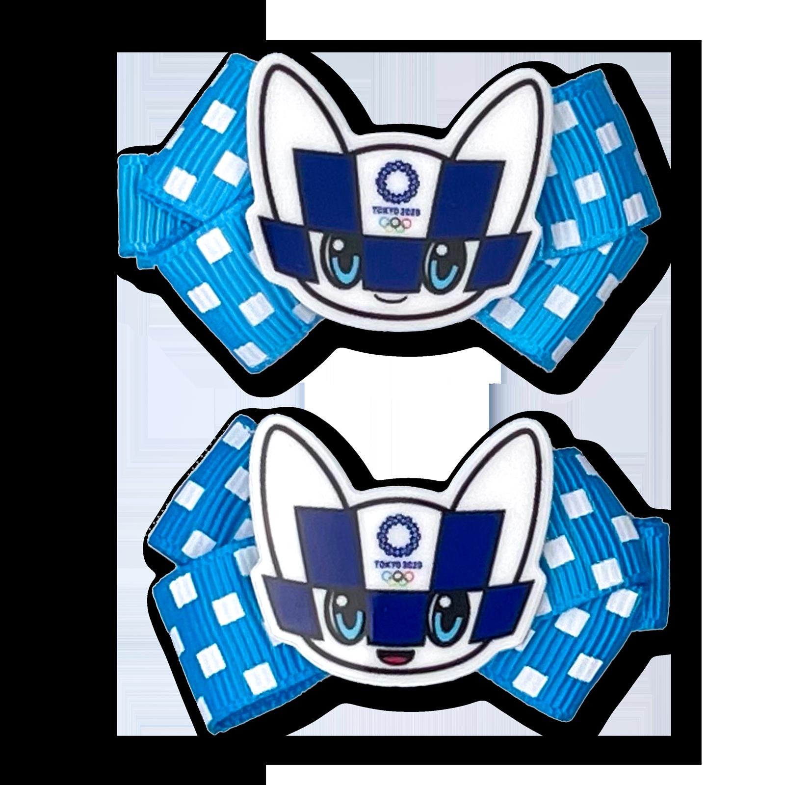 東京2020オリンピックマスコットパーツ付ヘアクリップ2個セット