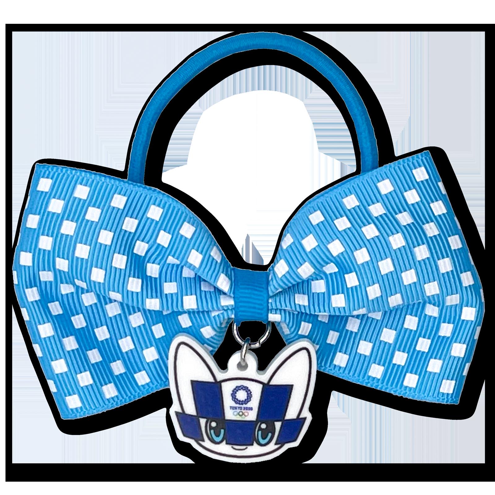 東京2020オリンピックマスコットパーツ付リボンヘアゴム