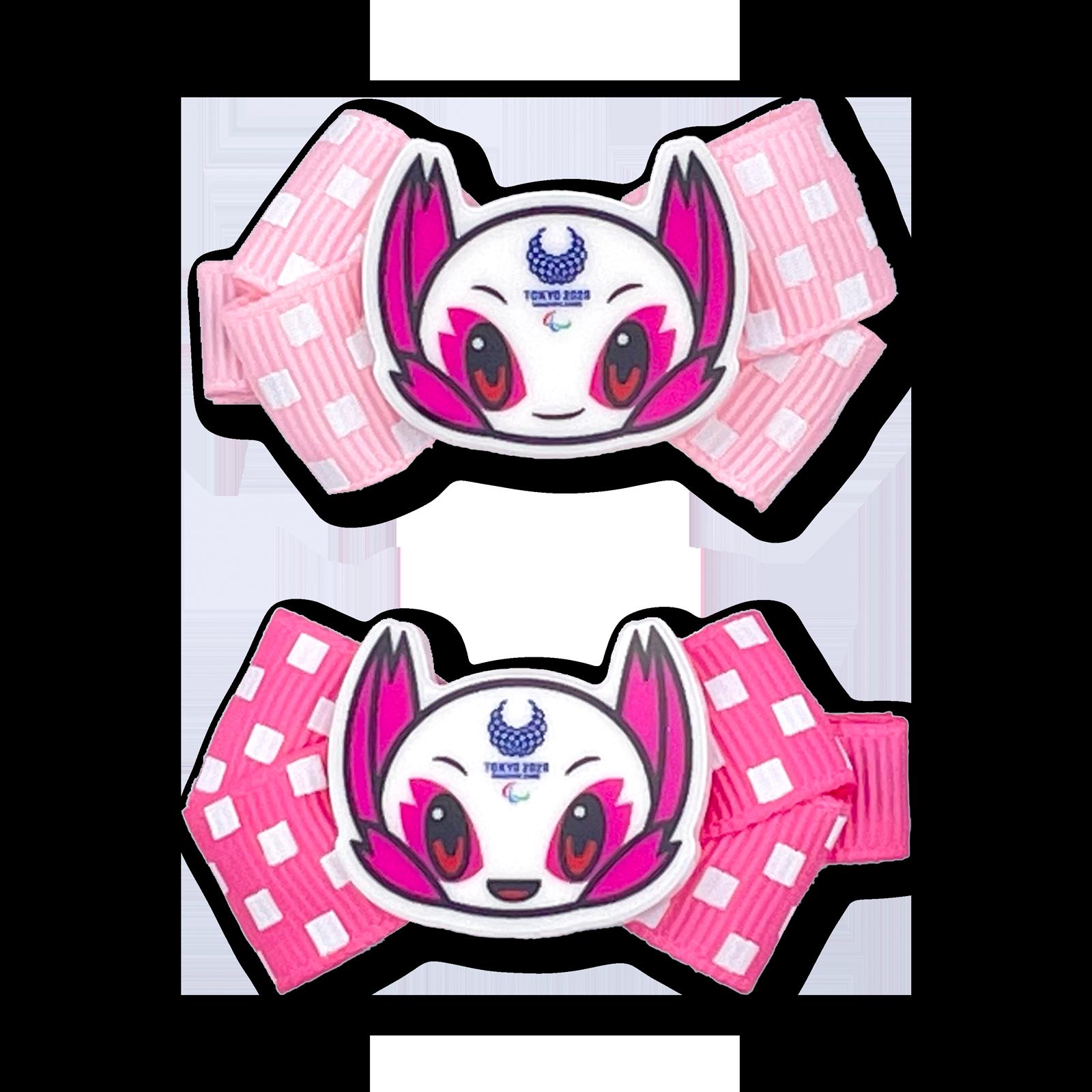 東京2020パラリンピックマスコットパーツ付ヘアクリップ2個セット