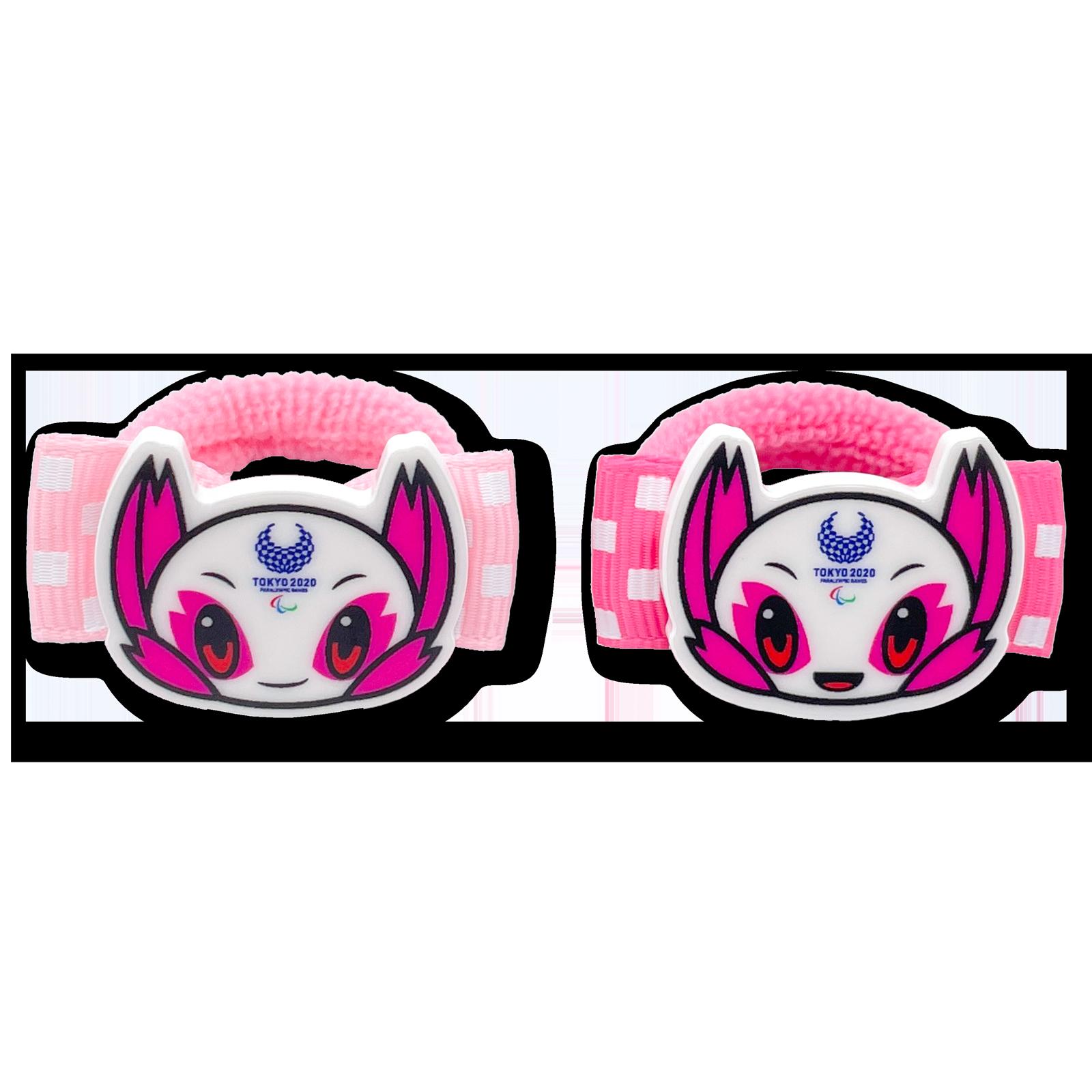 東京2020パラリンピックマスコットパーツ付ヘアゴム2個セットミニ