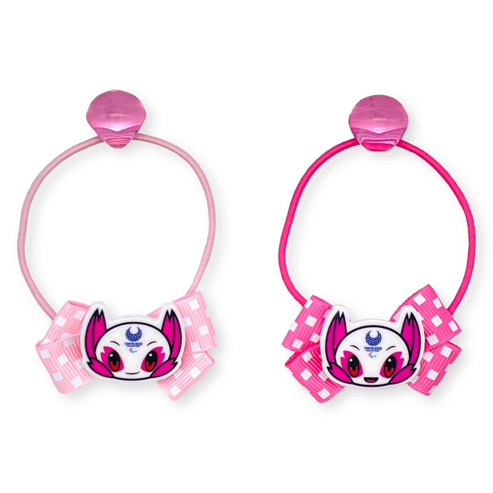 【セール価格】東京2020パラリンピックマスコットパーツ付ヘアゴム2個セット丸玉