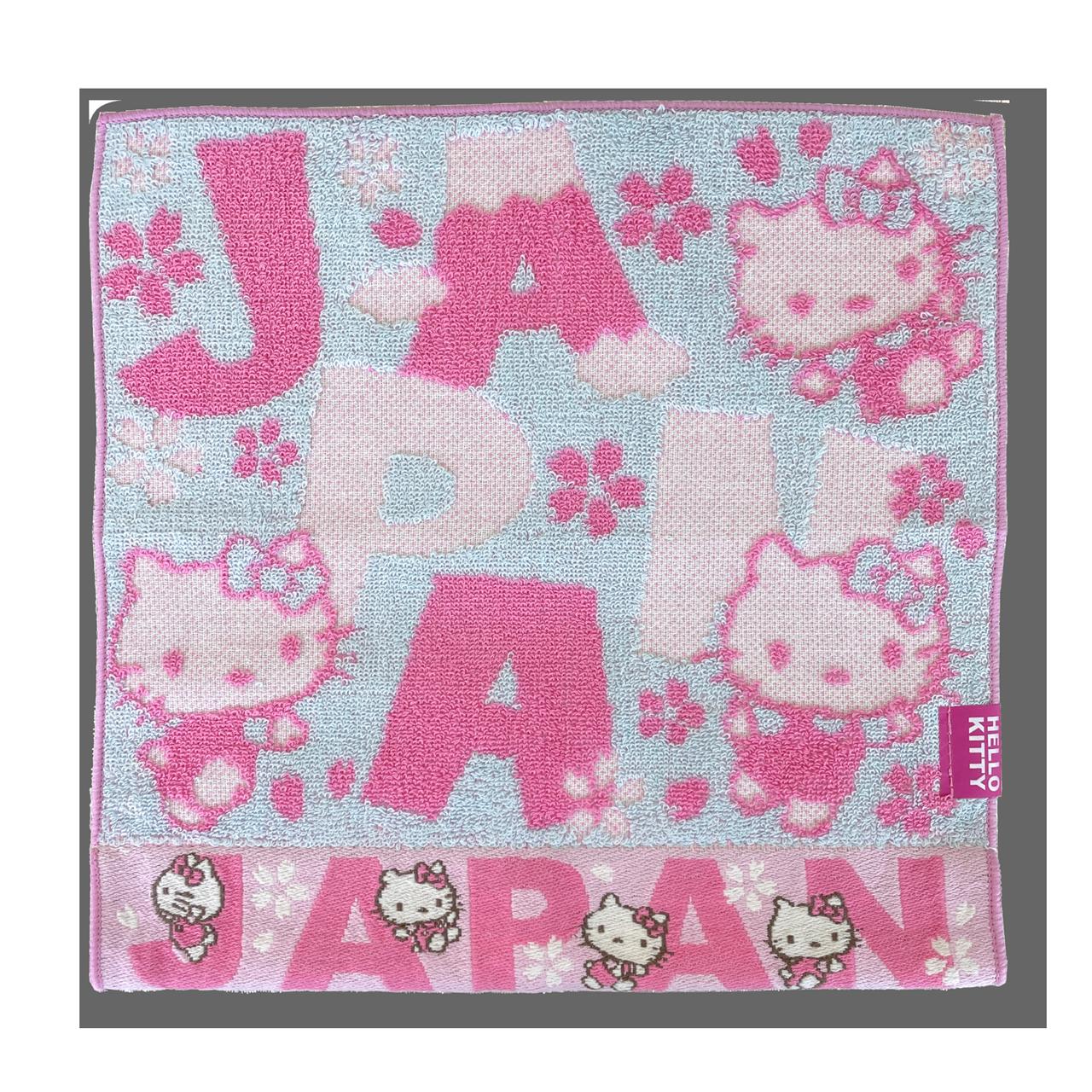 JAPAN×ハローキティ ジャガードタオル・ロゴ