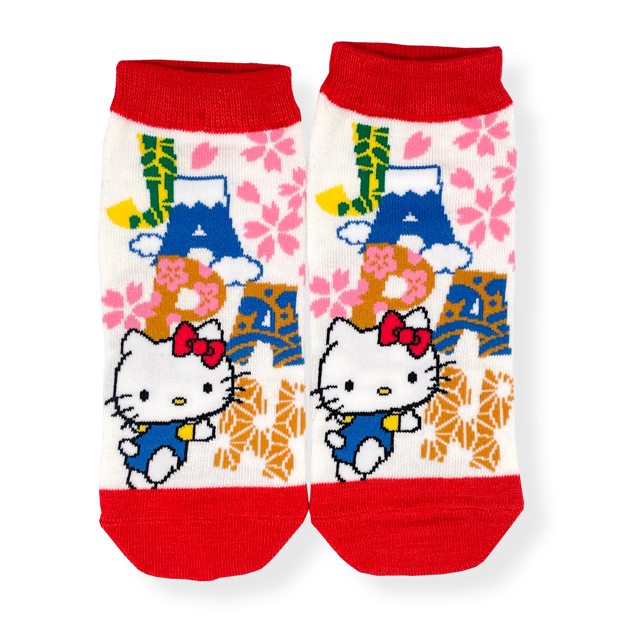JAPAN×ハローキティ 靴下・ロゴ