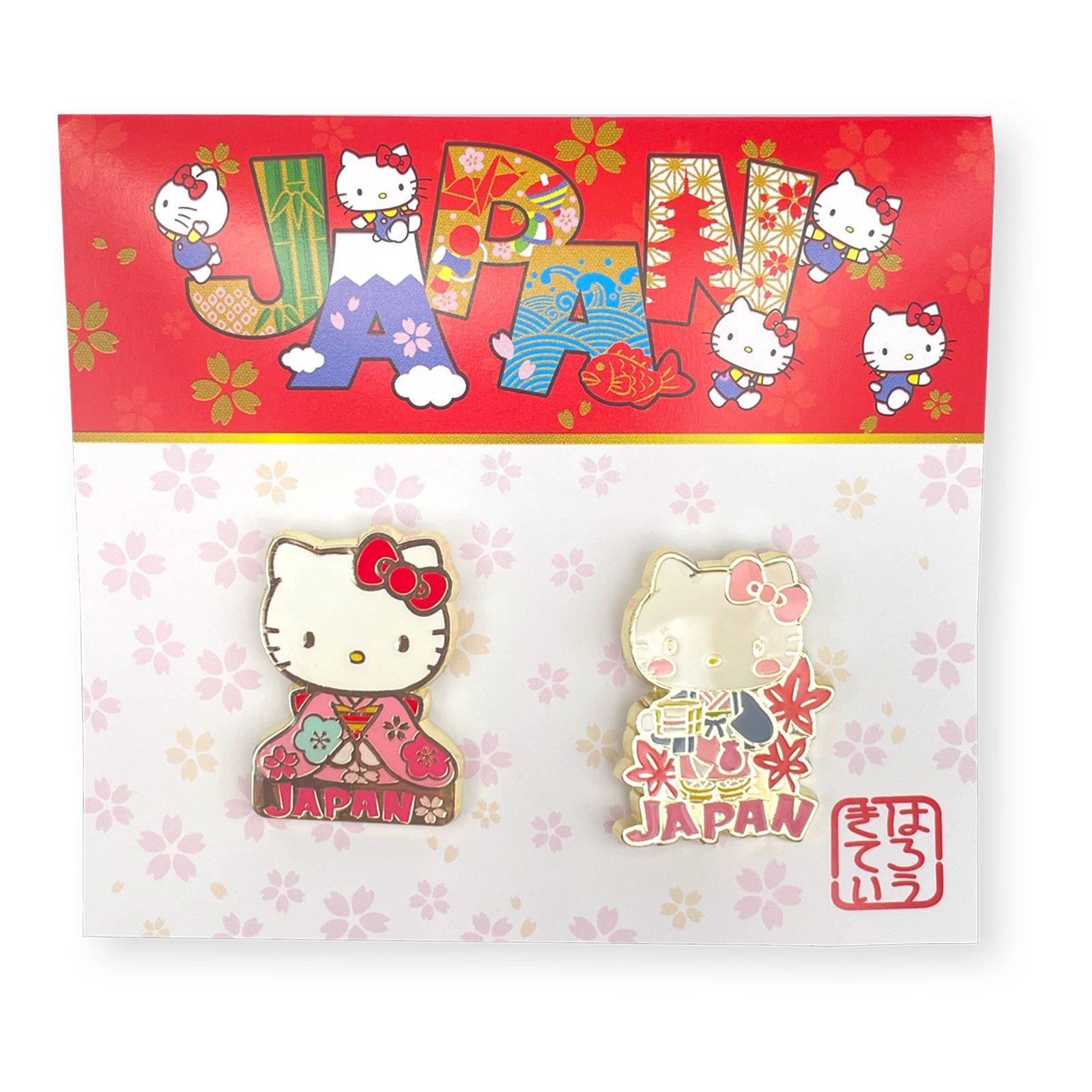 JAPAN×ハローキティ ピンズ2Pセット・着物×温泉