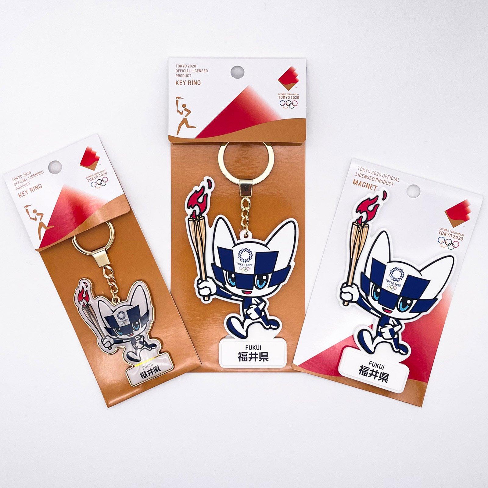 【セール価格】【お得なセット】東京2020オリンピック聖火リレーマスコット商品:福井県セット