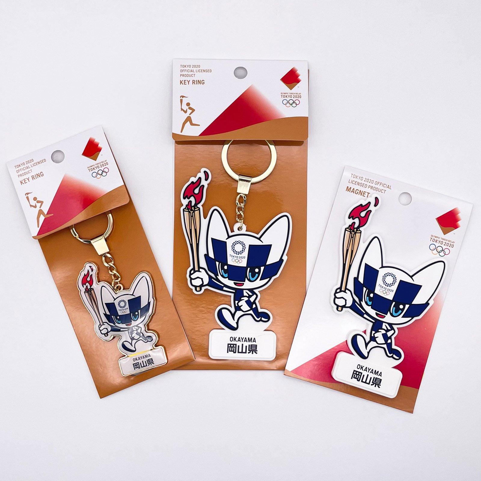 【セール価格】【お得なセット】東京2020オリンピック聖火リレーマスコット商品:岡山県セット