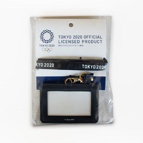 【セール価格】東京2020オリンピックエンブレムネックストラップパスケースベースブラック