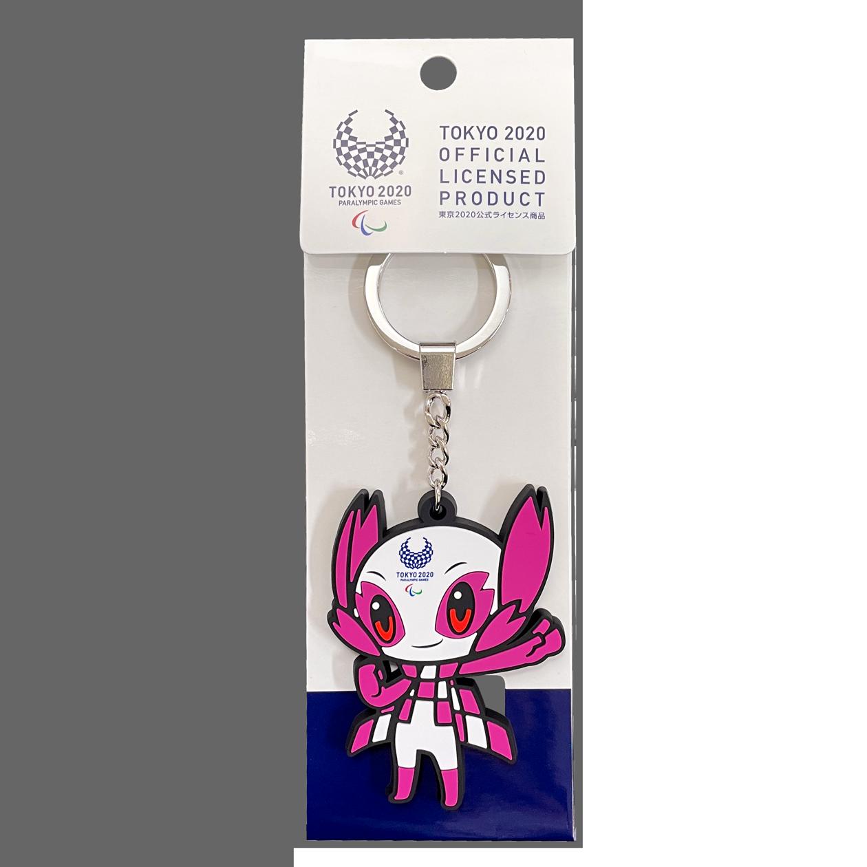 【セール価格】東京2020パラリンピックマスコットラバーキーホルダー(ダイカット)