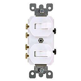 3路スイッチ&3路スイッチ-白 5243-W PSE取得品
