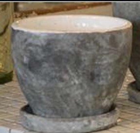 陶器 グレー&ホワイト