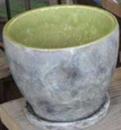 陶器 ホワイト&ライトグリーン