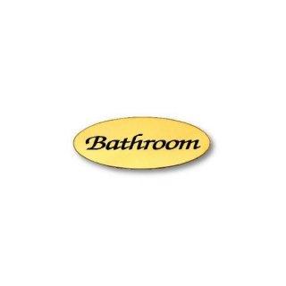 サイン BATHROOM オーバルAD