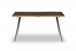 SIVA DINING TABLE RAW OAK BK LEG