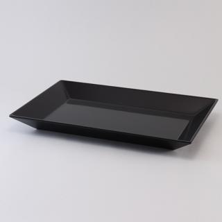 長方皿 黒
